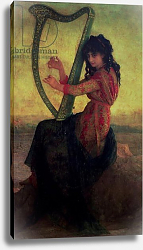 Постер Херберт Антуан Muse Playing the Harp