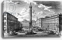 Постер Вази Джузеппе View of Piazza Colonna, Rome, 1752