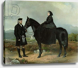 Постер Брабер Шарль Queen Victoria on Horseback with John Brown