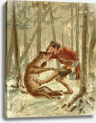 Постер Бишар Альфонс Baron Munchausen's encounter with a wolf, c.1886