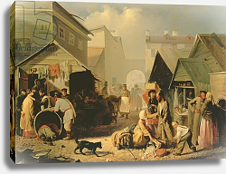 Постер Волков Адриан Refreshment Stall in St. Petersburg, 1858