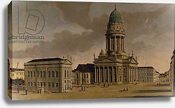 Постер Фешхельм Карл Ф. The Gendarmenmarkt with the French Playhouse and Cathedral, Berlin, 1788