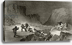 Постер Гамильтон Джеймс Crossing the Ice Belt at Coffee Gorge, engraved by R. Hinshlewood, 1856