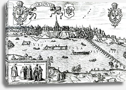 Постер Хофнагель Йорис Map of Warsaw, from 'Civitates Orbis Terrarum' by Georg Braun and Frans Hogenberg c.1572-1617