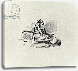 Постер Бевик Томас A Man in a Wheelbarrow from 'History of British Birds and Quadrupeds' publ 1815?