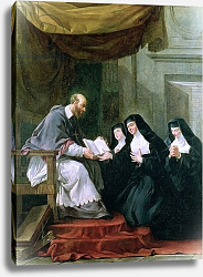 Постер Холл Ноэль St. Francois de Sales Giving the Rule of the Visitation to St. Jeanne de Chantal