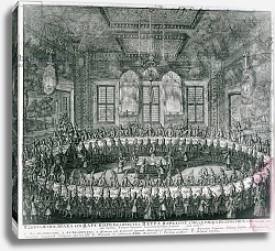 Постер Зубов Алексей Wedding of Peter I and Catherine in the Winter Palace in 1712, 1712