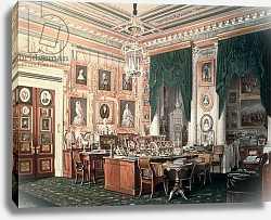 Постер Гау Эдуард The Study of Alexander III at Gatchina Palace, c.1881