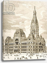 Постер Школа: Английская 19в. The City Hall, Chicago, c.1870, from 'American Pictures', 1876