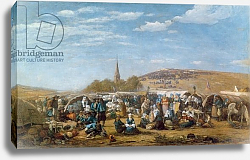 Постер Буден Эжен (Eugene Boudin) The Pardon of Sainte-Anne-La-Palud, Brittany, 1858