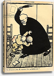 Постер Валлоттон Феликс A priest beats a boy, from 'Crimes and Punishments', 1902