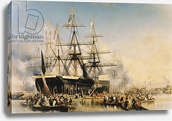 Постер Изабе Луи King Louis-Philippe Disembarking at Portsmouth, 8th October 1844, 1846