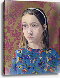 Постер Берн Алан (совр) Painting of a Young Girl, 1993