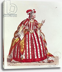 Постер Леком Ипполит Mademoiselle Dumesnil in the Role of Agrippina in 'Britannicus' 1740