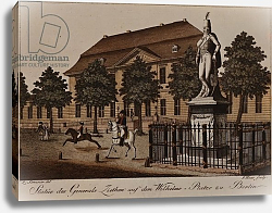 Постер Школа: Немецкая Statue of General von Ziethen in Wilhelm Platz, Berlin