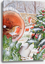 Постер Тодд Тони (совр) Christmas Robins 3