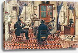 Постер Бест Мари Anthony and Three Friends Playing a String Quartet