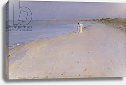 Постер Кройер Севрин Summer evening at the South Beach, Skagen, 1893