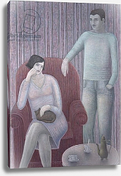 Постер Эдиналл Рут (совр) Couple with Cat, 2008