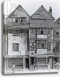 Постер Смит Джон (грав) Houses on the South Side of a Street called London Wall, published 1812