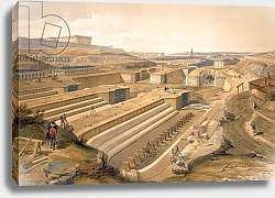Постер Docks at Sebastopol, plate from 'The Seat of War in the East', pub. by Paul & Dominic Colnaghi & Co., 1856