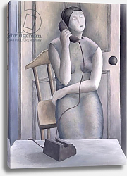 Постер Эдиналл Рут (совр) Woman on Phone, 1995