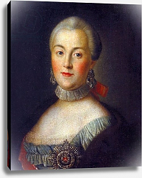 Постер Антропов Алексей Portrait of Grand Duchess Catherine Alekseevna, future Empress Catherine II the Great, c.1760