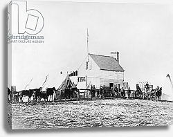 Постер Американский фотограф Headquarters of Sanitary Commission, Brandy Station, Virginia, 1863