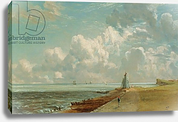 Постер Констебль Джон (John Constable) Harwich, The Low Lighthouse and Beacon Hill, c.1820