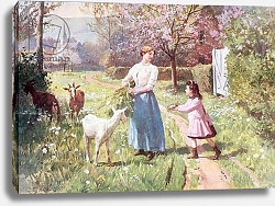 Постер Гилберт Виктор Easter Eggs in the Country, 1908
