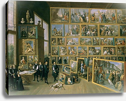 Постер Теньерс Давид Младший The Archduke Leopold Wilhelm in his Picture Gallery in Brussels, 1651