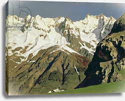 Постер Левитан Исаак Mont Blanc Mountains, 1897