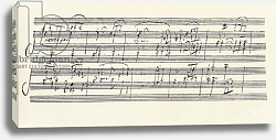Постер Бетховен Людвиг Portion of the Manuscript of Beethoven's Sonata in A, Opus 101