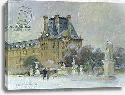 Постер Чемберлейн Тревор (совр) Snow in the Tuilleries, Paris, 1996