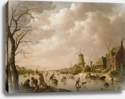 Постер Швейкхарт Генрих Skaters on a Frozen Canal, 1779