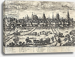 Постер Школа: Француские 17в. View of Lille c.1670, from 'Memoires de Charles de Batz-Castelmore Comte d'Artagnan', published 1928