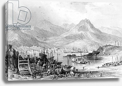 Постер Аллом Томас (грав) Hong-Kong from Kow-loon, engraved by Samuel Fisher