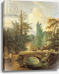 Постер Хью Жан-Батист Peasant and her Donkey Crossing a Bridge, 1775