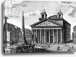 Постер Акварони Джузеппе View of the Pantheon, Rome, c.1810