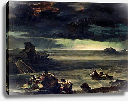 Постер Жерико Теодор Scene of the Deluge, 1818-20