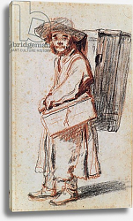 Постер Ватто Антуан (Antoine Watteau) Study of a Pedlar from the Auvergne