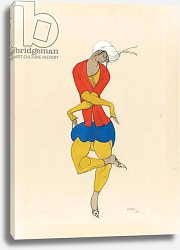 Постер Бакст Леон Maria Kuznetsova, costume design for 'L'Adoration', 1922