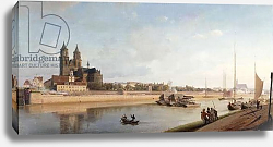 Постер Гартнер Йоханн Magdeburg on the banks of the River Elbe - View from the East to the West; Magdeburg an der Elbe; Ansicht von Ost nach West, 1853