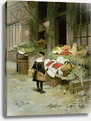 Постер Гилберт Виктор Little Boy at the Market