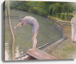 Постер Кайботт Гюстав (Gustave Caillebotte) The Bather, or The Diver, 1877