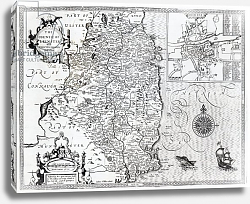 Постер Спид Джон The County of Leinster with the City of Dublin Described, 1611-12