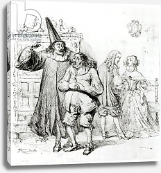 Постер Гранвиль Argan and Monsieur Purgon, from 'Le Malade Imaginaire' by Moliere