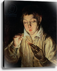 Постер Эль Греко A Child Blowing on an Ember, early 1570s