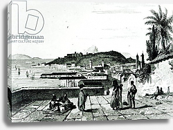 Постер Школа: Французская 19в. View of Rio de Janeiro from the church of St.Bento drawn by Fleury, engraved by Aubert, 1838