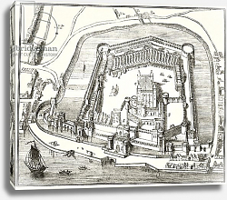 Постер Школа: Английская 19в. The Tower of London in the 15th century, from 'The National and Domestic History of England'